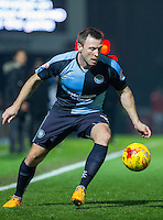 Garry Thompson of Wycombe Wanderers in action during the Sky Bet League 2 match between Wycombe Wanderers and Notts County at Adams Park, High Wycombe, England on 15 December 2015. Photo by Andy Rowland.