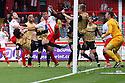 Goalmouth scramble<br />  - Stevenage v Leyton Orient - Sky Bet League 1 - Lamex Stadium, Stevenage - 17th August, 2013<br />  © Kevin Coleman 2013