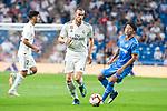 Real Madrid Gareth Bale and Getafe CF Gaku Shibasaki during La Liga match between Real Madrid and Getafe CF at Santiago Bernabeu in Madrid, Spain. August 19, 2018. (ALTERPHOTOS/Borja B.Hojas)