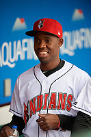 Indianapolis Indians Eury Perez (27) before a game against the Toledo Mud Hens on May 2, 2017 at Victory Field in Indianapolis, Indiana.  Indianapolis defeated Toledo 9-2.  (Mike Janes/Four Seam Images)