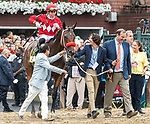 August 28, 2021: Letruska #6, ridden by jockey Irad Ortiz dig in to win the Grade 1 Personal Ensign Stakes at Saratoga Race Course in Saratoga Springs, N.Y. on August 28th, 2021. Rob Simmons/Eclipse Sportswire/CSM