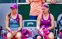 Paris, France, 02 June, 2018, Tennis, French Open, Roland Garros, Womans doubles: Kiki Bertens (NED) and Johanna Larsson (SWE) (L) are defeated<br /> Photo: Henk Koster/tennisimages.com