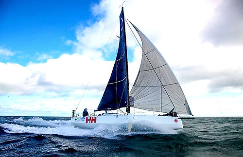 Fast and steady and in the right direction- Iarracht Maigeanta with the kind of sailing that established the new Round Ireland Two-Handed Record