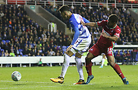 Tiago Ilori of Reading is challenged by Wayne Routledge of Swansea City during the Carabao Cup Third Round match between Reading and Swansea City at Madejski Stadium, Reading, England, UK. Tuesday 19 September 2017