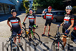 Members of the Chain Gang Cycling club, Clare and Brian Neenan, Pat Keoghan and Aine Horan ready for road as they gather in the Meadowlands Hotel on Saturday morning.