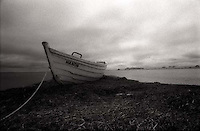 Beached rowboat<br />