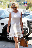 Katherine Heigl wore a caramel studded leather tote by Valentino and a summerly white dress as she stepped out for lunch today with her mom_Nancy. Los Angeles, California on 08.05.2012.Credit: Correa/face to face. /MediaPunch Inc. ***FOR USA ONLY***