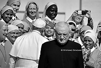 Regent:  Rev. Father Leonardo SAPIENZA  The Prefecture of the Papal Household is responsible for the internal organisation of the Papal Household.<br /> Pope Francis during of a weekly general audience at St Peter's square in Vatican, Wednesday.September 25, 2019