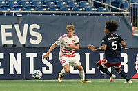 FOXBOROUGH, MA - AUGUST 21: Scott Thomsen #3 of Richmond Kickers moves to recover loose ball during a game between Richmond Kickers and New England Revolution II at Gillette Stadium on August 21, 2020 in Foxborough, Massachusetts.