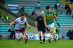 Paul O'Shea, Kerry in action against Damien Comer, Galway during the Allianz Football League Division 1 South Round 1 match between Kerry and Galway at Austin Stack Park in Tralee.