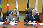 Palestinian Prime Minister Salam Fayyad attends signing agreement ceremony with the World Bank for Municipalities development in the West Bank and Gaza strip in the West Bank city of Ramallah on June 10, 2010. Photo by Mustafa Abu Dayeh\pool