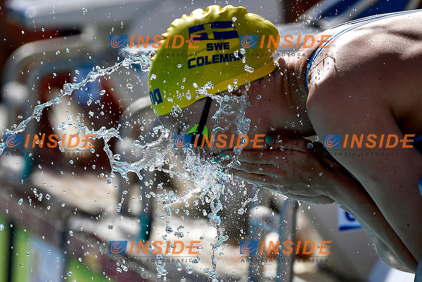 Michelle Coleman of Sweden prepares to compete in the women 50m butterfly  during the 58th Sette Colli Trophy International Swimming Championships at Foro Italico in Rome, June 25th, 2021. Michelle Coleman placed 1st in her heat.
