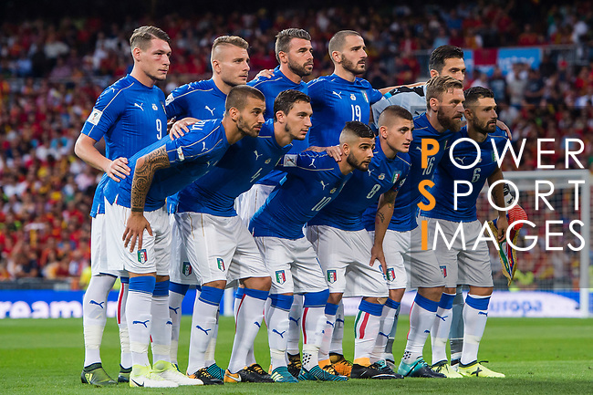 Italy squad poses for photos during their 2018 FIFA World Cup Russia Final Qualification Round 1 Group G match between Spain and Italy on 02 September 2017, at Santiago Bernabeu Stadium, in Madrid, Spain. Photo by Diego Gonzalez / Power Sport Images