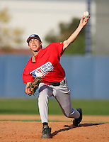 February 10 2008: Brian Valenzuela participates in a MLB pre draft workout for high school players at the Urban Youth Academy in Compton,CA.  Photo by Larry Goren/Four Seam Images
