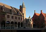 Gruuthuse Museum Courtyard at Sunrise, Bruges, Brugge, Belgium