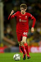 21st September 2021; Carrow Road, Norwich, England; EFL Cup Footballl Norwich City versus Liverpool; Conor Bradley of Liverpool
