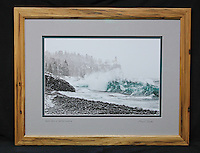 """""""Winter Storm at Split Rock Lighthouse"""", hand-made hickory frame, conservation grade matting, TruVue Museum Glass. Contact us for availability."""