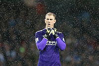 Joe Hart during the Barclays Premier League Match between Manchester City and Swansea City played at the Etihad Stadium, Manchester on 12th December 2015