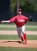 March 30, 2010:  Pitcher Jared Simon of the Philadelphia Phillies organization during Spring Training at the Carpenter Complex in Clearwater, FL.  Photo By Mike Janes/Four Seam Images
