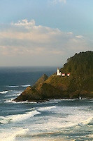 Heceta Lighthouse with waves. Oregon