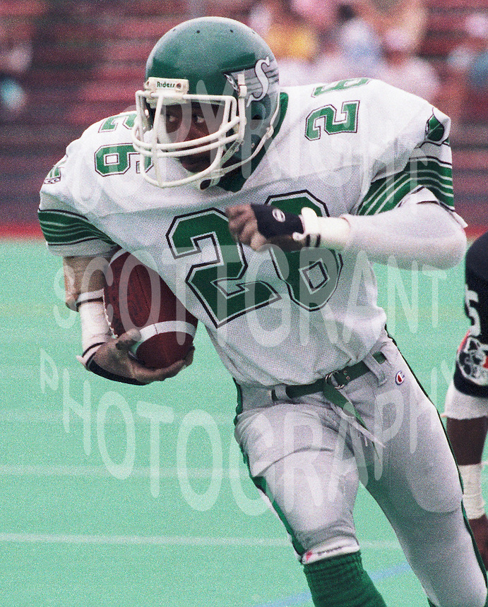 Harry Skipper Saskatchewan Roughriders 1987. Photo F. Scott Grant.