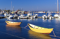 fishing boats, Gloucester, MA, Massachusetts, Fishing boats moored at the marina in the Inner Harbor of Gloucester in the fall.