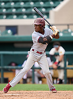 Brandon Eagles outfielder Kendal Spencer (5) during the 42nd Annual FACA All-Star Baseball Classic on June 5, 2021 at Joker Marchant Stadium in Lakeland, Florida.  (Mike Janes/Four Seam Images)