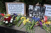 Memorial rally on the anniversary of the 1989 Soviet massacre of 20 hunger strikers outside the Parliament building in Tbilisi, Georgia.