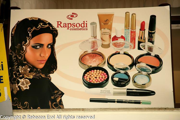 Advert for Turkish cosmetics