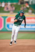 Fort Wayne TinCaps shortstop Justin Lopez (1) runs the bases during a game against the West Michigan Whitecaps on May 17, 2018 at Parkview Field in Fort Wayne, Indiana.  Fort Wayne defeated West Michigan 7-3.  (Mike Janes/Four Seam Images)