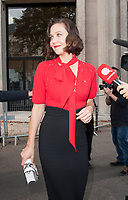 October 3 2017, PARIS FRANCE the Miu Miu<br /> Show at the Paris Fashion Week Spring Summer 2017/2018. Actress Maggie Gyllenhaal leaves the show.