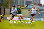 Diarmuid O'Connor, Kerry in action against Cathal Sweeney, Galway during the Allianz Football League Division 1 South Round 1 match between Kerry and Galway at Austin Stack Park in Tralee.