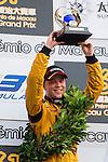 Felix Rosenqvist Celebrates the title of the Formula 3 Macau Grand Prix during the 61st Macau Grand Prix on November 16, 2014 at Macau street circuit in Macau, China. Photo by Aitor Alcalde / Power Sport Images