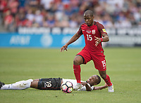 Commerce City, CO - Thursday June 08, 2017: Kevan George, Darlington Nabge during a 2018 FIFA World Cup Qualifying Final Round match between the men's national teams of the United States (USA) and Trinidad and Tobago (TRI) at Dick's Sporting Goods Park.