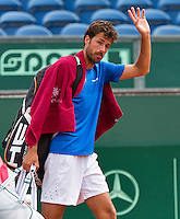 Netherlands, The Hague, Juli 26, 2015, Tennis,  Sport1 Open, Robin Haase (NED) thanks the crowd after the match<br /> Photo: Tennisimages/Henk Koster
