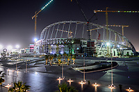 KATAR, Doha, Baustelle Khalifa International Stadium fuer die  FIFA WM Fussball Weltmeisterschaft 2022, auf den Baustellen arbeiten Gastarbeiter aus aller Welt / QATAR, Doha, construction site Khalifa International Stadium for FIFA world cup 2022, built by contractor midmac and sixt contract