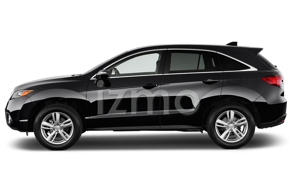 Car driver side profile view of a 2014-2015 Acura RDX Tech  5 Door SUV