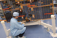 The Gavazzi Space is one of leader Italian industries in the aerospace and nanotechnologies field; it plan and build satellites for telecommunications and Hearth observation and systems for land monitoring; it collaborate with NASA, ESA (European Space Agency ), ASI (Italian Space Agency) and  International Space Station (ISS); plant of Rivalta Scrivia, clean room,  assembly of AGILE satellite for astrophysics studies  ....- La Gavazzi Space è una delle prime industrie italiane nel settore aerospaziale e delle nanotecnologie, progetta e costruisce satelliti per le telecomunicazioni e per l'osservazione terrestre e sistemi di monitoraggio ambientale della Terra, collabora con la NASA, l'ESA (Ente Spaziale Europeo), l'ASI (Agenzia Spaziale Italiana) e la Stazione Spaziale Internazionale (ISS); stabilimento di Rivalta Scrivia, camera bianca, montaggio del satellite AGILE per studi di astrofisica