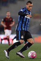 Calcio, Serie A: Roma vs Inter. Roma, stadio Olimpico, 19 marzo 2016.<br /> FC Inter's Jonathan Biabiany in action during the Italian Serie A football match between Roma and FC Inter at Rome's Olympic stadium, 19 March 2016. The game ended 1-1.<br /> UPDATE IMAGES PRESS/Isabella Bonotto