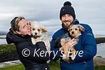 Happy and Sofia the dogs with Ashley Fitzgibbon and Richie Ross going for a walk in Lohercannon on Monday morning.