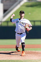 Salt River Rafters starting pitcher Jordan Yamamoto (20), of the Arizona Diamondbacks organization, delivers a pitch during an Arizona Fall League game against the Surprise Saguaros at Salt River Fields at Talking Stick on October 23, 2018 in Scottsdale, Arizona. Salt River defeated Surprise 7-5 . (Zachary Lucy/Four Seam Images)