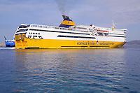 - ferry of Corsica Ferries & Sardinia Ferries company ....- traghetto della compagnia Corsica Ferries & Sardinia Ferries