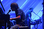 Thom Yorke and Flea performing at the Orpheum Theater in Los Angeles..Los Angeles, CA. on October 05, 2009 -..Photo by Kelly A. Swift / RockinExposures