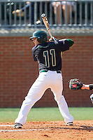 Matt Creech (11) of the Charlotte 49ers at bat against the Canisius Golden Griffins at Hayes Stadium on February 23, 2014 in Charlotte, North Carolina.  The Golden Griffins defeated the 49ers 10-1.  (Brian Westerholt/Four Seam Images)