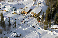 Aerial of Ray Redington Jr & Ramey Smyth @ Anvik Chkpt 2005 Iditarod