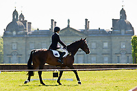 GORGEOUS PROFILE: AUS-Catherine Burrell (URZAN) make their way past Houghton Hall to the SJ: 2012 GBR-Subaru Houghton Hall International Horse Trial: CICO*** SJ-Saturday: 17TH
