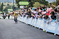 yellow jersey // GC leader Mathieu van der Poel (NED/Alpecin Fenix) <br /> <br /> Stage 5 (ITT): Time Trial from Changé to Laval Espace Mayenne (27.2km)<br /> 108th Tour de France 2021 (2.UWT)<br /> <br /> ©kramon