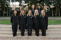 15 November 2006: Top row: Sara Lowe, Erin Bell, Samantha Bongiovanni-Duclos, Debbie Chen, Taylor Durand, Hilary Homenko, Melissa Knight, Sara Lowe, Katherine Norris and Courtenay Stewart and Gayle Lee during Picture Day at the Avery Aquatic Center in Stanford, CA.