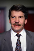 EXCLUSIVE File Photo - Montreal Mayor Jean Dore in  the eighties.<br /> <br /> Dore has been told he as a terminal pancreas cancer and 3 weeks to live , this September 2014.<br /> <br /> File Photo : Agence Quebec Pressse  - Pierre Roussel