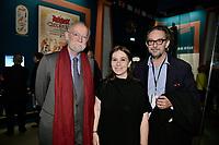 Nicolas SEYDOUX, Anne GOSCINNY, Aymar DU CHATENET - Vernissage de l'exposition Goscinny - La Cinematheque francaise 02 octobre 2017 - Paris - France